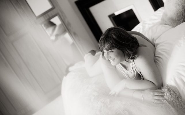 Bridal boudoir photography with Katie